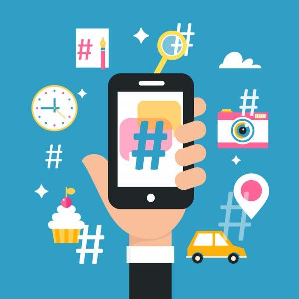 hashtags y emojis en copy para redes sociales