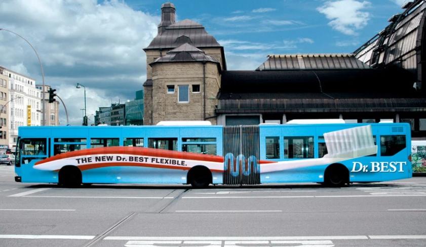 publicidad creativa en autobus