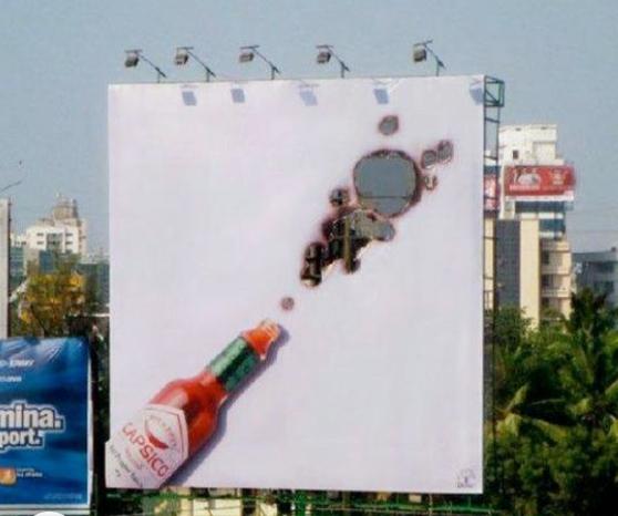 valla publicitaria creativa