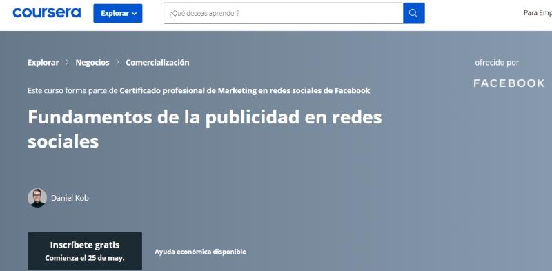 curso fundamentos de la publicidad en redes sociales