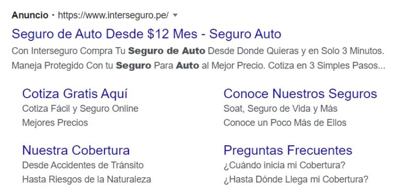 google ads interseguro