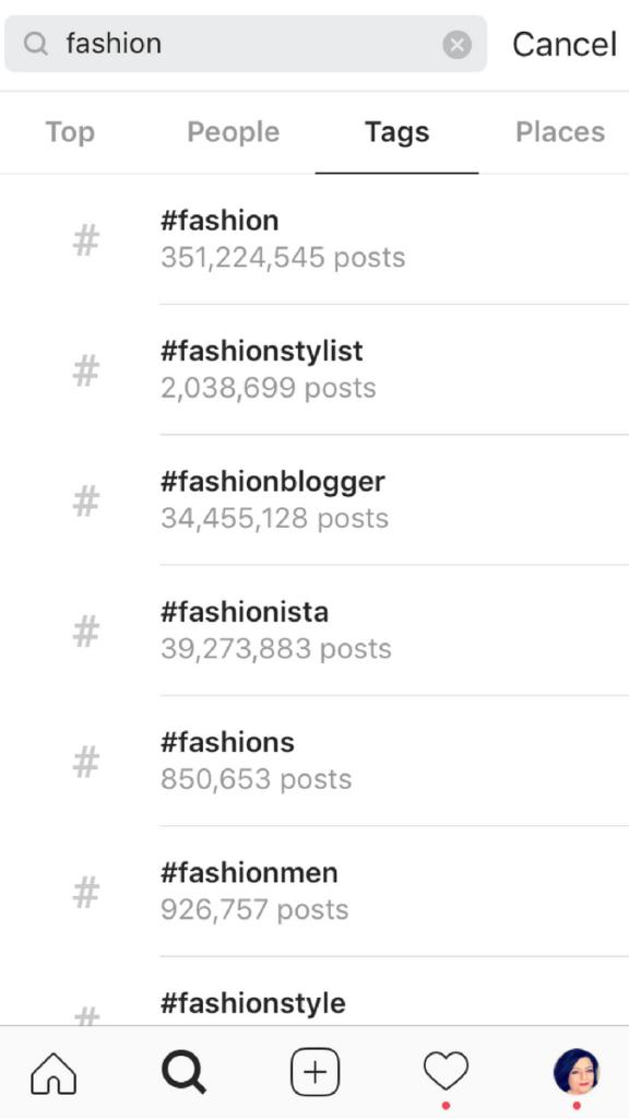 algoritmo de instagram search