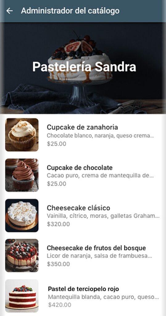 catalogo en whatsapp business