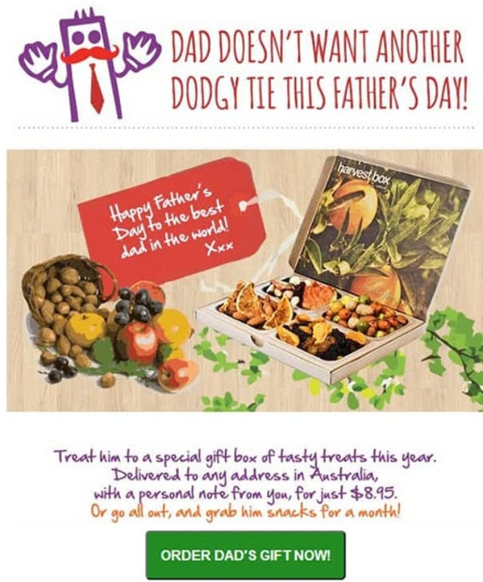 email marketing campaña para el dia del padre
